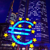 Euro Sign. February 12 : . European Central Bank (ECB) is the central bank for the euro and administers the monetary policy of the Eurozone. February 12, 2014 royalty free stock photo