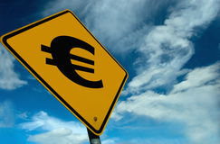 Euro Sign. 'Euro' Signage, to be used to show the Rise and fall of the euro, and money making opertunitys. If you need a design & cant see what you need please Royalty Free Stock Photos