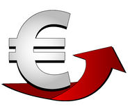 Euro Sign with arrow Stock Image