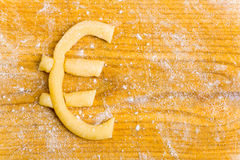 Euro sign as christmas cookie Royalty Free Stock Image