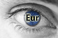 Euro sign Stock Photography