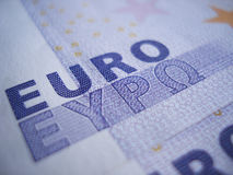 Euro Sign Closeup. Euro sign close-up on 500 euro banknotes Royalty Free Stock Photos