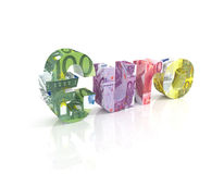 Euro Sign with euro currency Stock Photos