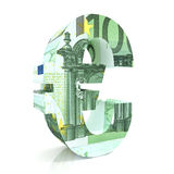 Euro Sign with euro currency Royalty Free Stock Image