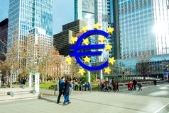 Euro Sign. European Central Bank (ECB) is the central bank for t Royalty Free Stock Photography