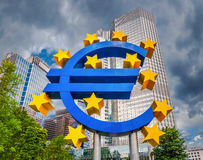 Euro sign at European Central Bank in Frankfurt, Germany Royalty Free Stock Photo