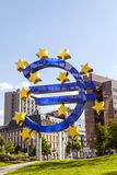Euro sign at European Central Bank headquarters in Frankfurt am Main Stock Photography