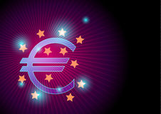 Euro sign and european union vector background illustration Stock Photography