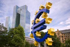 Euro Sign, Frankfurt Royalty Free Stock Photos