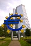 Euro Sign, Frankfurt Royalty Free Stock Photography