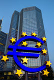 Euro Sign in Frankfurt Stock Photography