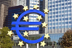 EURO Sign in Frankfurt Stock Images