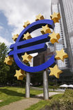 Euro Sign - Frankfurt, Germany Royalty Free Stock Photo