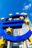 Euro sign in Frankfurt Stock Photo