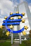 Euro sign in Frankfurt on the Main Stock Images