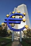 Euro sign in Frankfurt, Germany Stock Image