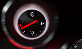 Euro sign fuel gauge Stock Photos