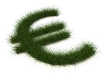 Euro sign of grass Stock Images