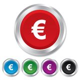 Euro sign icon. EUR currency symbol. Royalty Free Stock Photo