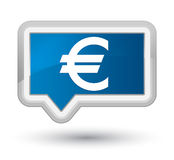 Euro sign icon prime blue banner button Royalty Free Stock Image