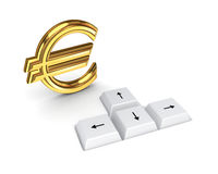 Euro sign and keyboard buttons. Stock Photos