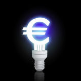 Euro sign lamp Stock Images