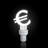 Euro sign lamp Stock Photo