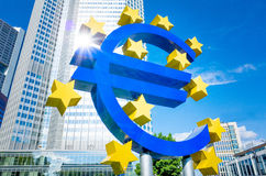 Euro Sign. MAY 16 : . European Central Bank (ECB) is the central bank for the euro and administers the monetary policy of the Eurozone. May 16, 2014 in stock images