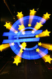 Euro Sign Outside European Central Bank. The Euro Sign Outside the Headquarters of the European Central Bank in Frankfkurt Royalty Free Stock Image