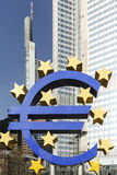The Euro sign outside the European Central Bank Royalty Free Stock Photos