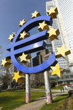 The Euro sign outside the European Central Bank Royalty Free Stock Images