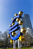 The Euro sign outside the European Central Bank Stock Photo