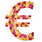Euro Sign. Rich Finance Concept. Design Gemstone Stock Images