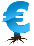 Euro sign with roots Stock Photo