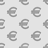 Euro sign seamless pattern background Stock Photography