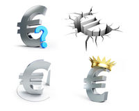Euro sign set on a white background Royalty Free Stock Photo