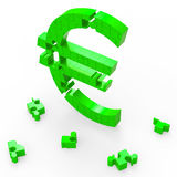 Euro Sign Shows Banking Savings And Security Royalty Free Stock Photography