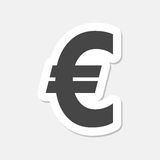 Euro sign stickers, EUR currency symbol, Money label. Vector icon Stock Images