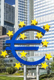 The Euro sign on a sunny day, Frankfurt, Germany Stock Images