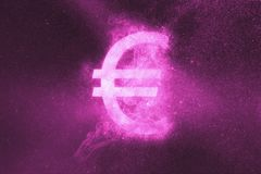 Euro sign, Euro Symbol. Abstract night sky background. Abstract Symbol stock illustration