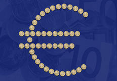Euro sign symbol coins Stock Images