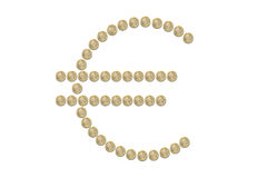 Euro sign symbol coins isolated Stock Photography