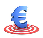Euro sign on target Royalty Free Stock Photography