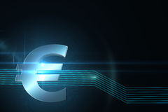 Euro sign on technical background Stock Photo