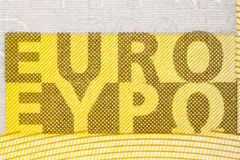 Euro sign of two hundred banknote. High resolution photo Stock Image