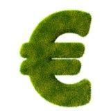 Euro signe d'herbe verte fraîche Photo stock