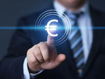 Euro signe d'icône de symbole d'argent de devise Concept de finances d'affaires Photographie stock libre de droits