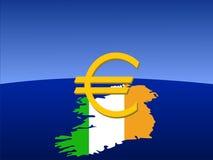 Euro signe irlandais Images libres de droits
