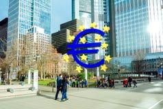 Euro signe La Banque Centrale Européenne (BCE) est la banque centrale pour t Photographie stock libre de droits