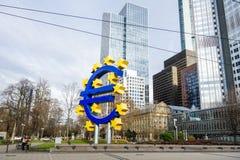 Euro signe La Banque Centrale Européenne (BCE) est la banque centrale pour t Image libre de droits